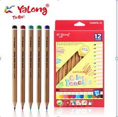 """Карандаши цветные """"Yalong""""12шт"""