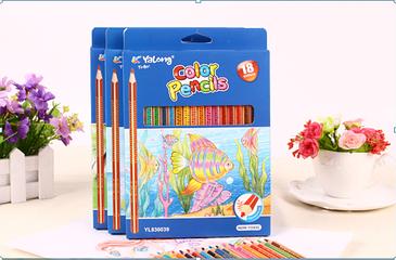 Цветные карандаши акварельные 18 цветов