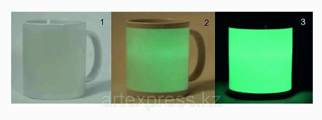 Печать на кружке флуоресцентная (светится в темноте)