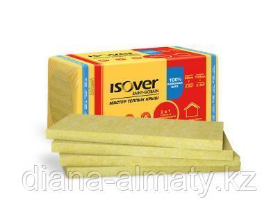 Мин плита ISOVER Мастер тёплых крыш 50*600*1000 (4,8м2=0,24м3) 8 шт/уп тел. whats up 870757051511