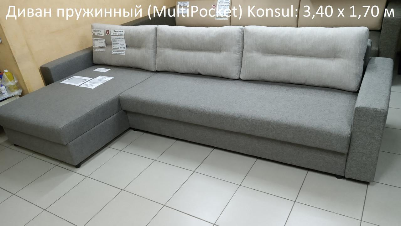 """Угловые пружинные диваны """"Konsul"""" 340 х 170 см"""