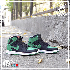 Kроссовки Nike Air Jordan 1 Retro Black\Green, фото 2