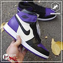 "Кроссовки Nike Air Jordan 1 Retro ""Black\Violet"", фото 2"