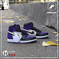 "Кроссовки Nike Air Jordan 1 Retro ""Black\Violet"", фото 3"