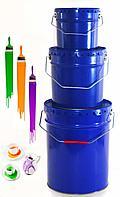 Ведро с ручкой и крышкой Корона, объем 20 литров, окрас синий