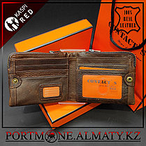 Кошелек, портмоне, бумажник Contacts , 100 % натуральная кожа, фото 2