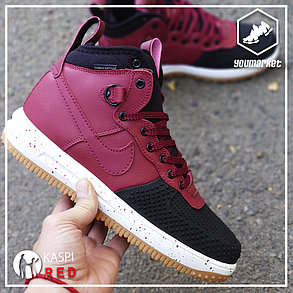 Зимние кроссовки Nike Lunar Force 1 Black\Bordo, фото 2