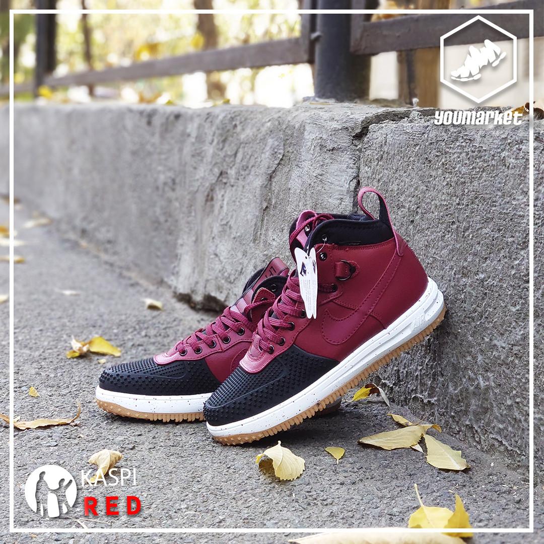 Зимние кроссовки Nike Lunar Force 1 Black\Bordo