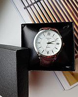 Мужские часы TISSOT коричневый ремешок, фото 1