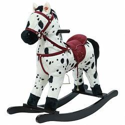 PITUSO Качалка-Лошадка мягконаб.,муз., Белый с черными пятнами, 74*30*64см