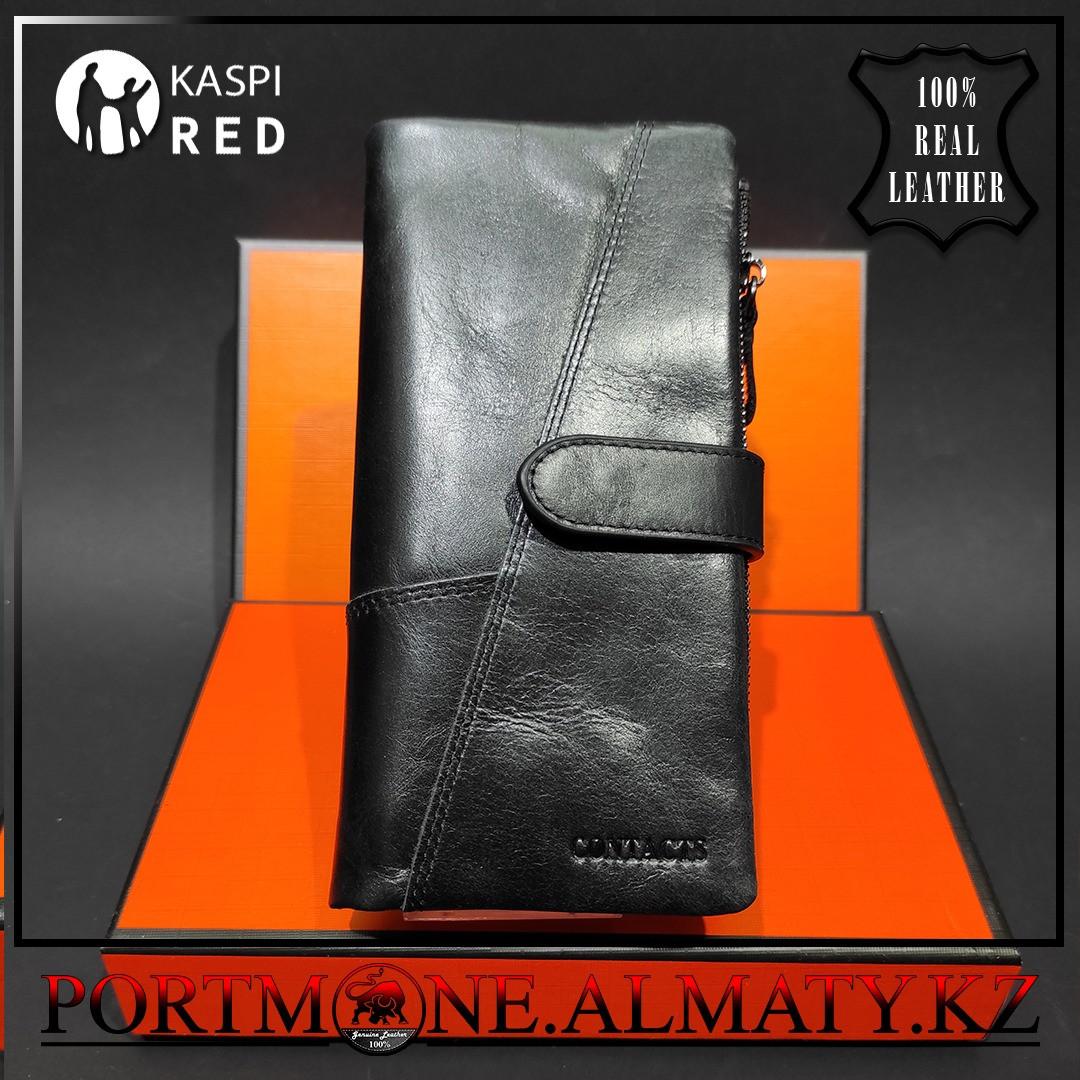 Клатч, кошелек, портмоне, бумажник Contacts натуральная кожа 100 %