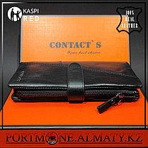 Клатч, кошелек, портмоне, бумажник Contacts натуральная кожа 100 %, фото 3