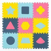 """Детский коврик-пазл с фигурами Funkids """"Геометрия"""" art. KB-D20C-9-NT, 08R"""
