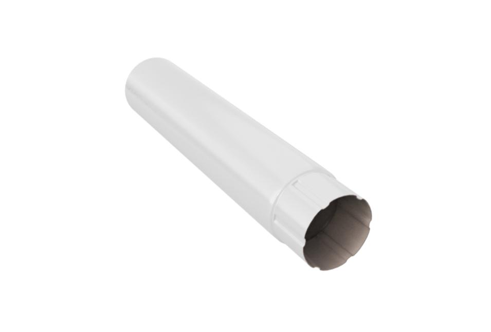 Труба круглая 90 мм, 3 м RAL 9003 Белый