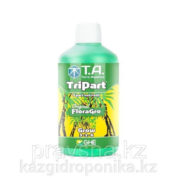 Удобрение жидкое для гидропоники TriPart Grow/Flora Gro GHE 0.5л