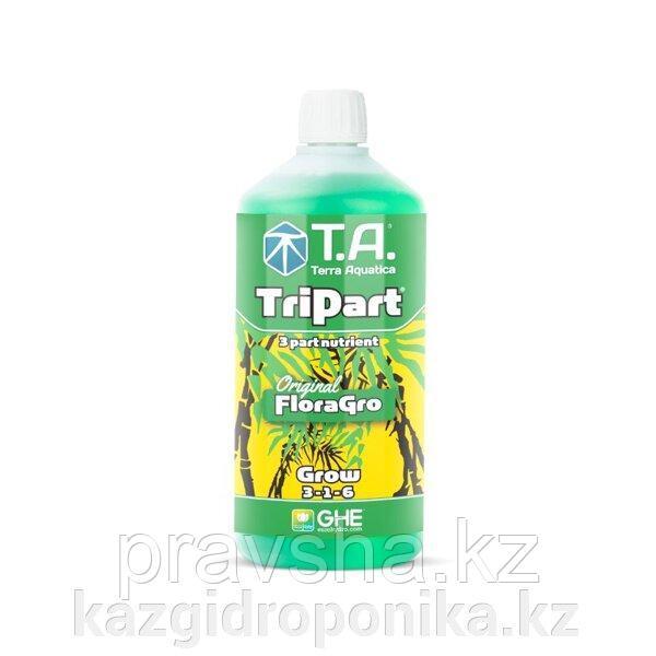 Удобрение жидкое для гидропоники TriPart Grow/Flora Gro GHE 1л