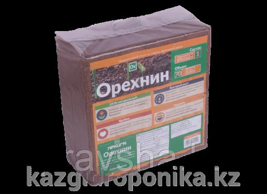 Субстрат кокосовый Орехнин (100%), блок, 70 л