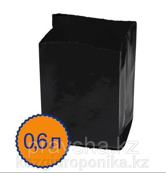 Пакет для рассады 0.6 л, 8 х 14 см, с перфорацией, набор 50 шт, черный