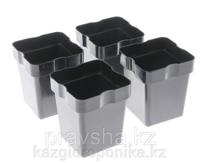Набор для рассады: стаканы - 10 шт. по 220 мл, чёрный, со съемным дном