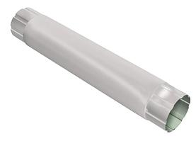 Труба круглая соединительная 90 мм, 1 м RAL 9003 Белый