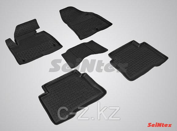 Резиновые коврики с высоким бортом для Hyundai Santa Fe III 2012-2018, фото 2