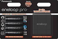 Аккумуляторы Panasonic Eneloop Pro AA 2450mAh 4BP(BK-3HCDEC4BE) с кейсом