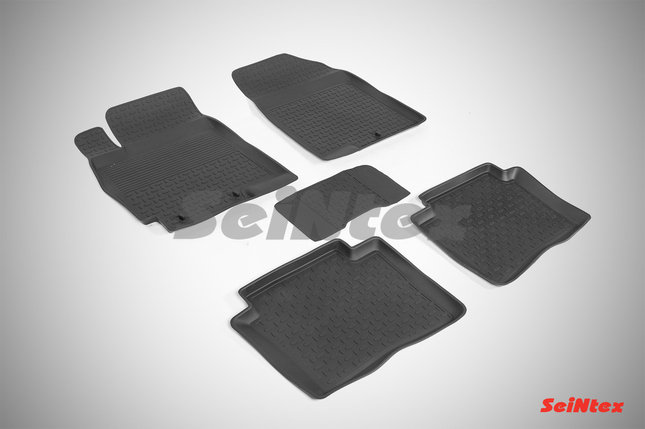Резиновые коврики с высоким бортом для Hyundai Accent 2010-2016, фото 2