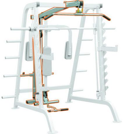 Верхняя и нижняя тяга опция (half cage lat attachment)
