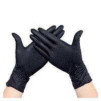 Перчатки медицинские нитриловые 100 шт/50 пар, черные