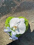 Подушка для колец из живых цветов, фото 3