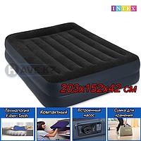 Двухспальная надувная кровать - матрас Intex 64124 - 203х152х42, со встроенным насосом, фото 1