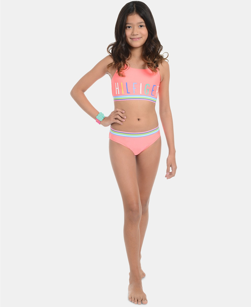 Tommy Hilfiger Детский купальник для девочек 2000000411507