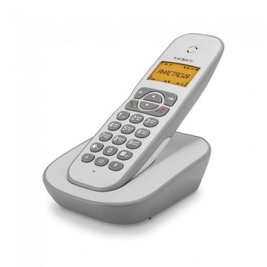 Телефон беспроводной Texet TX-D4505A бело-серый