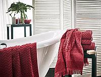 Полотенце махровое Ruby, зигзаг, красный