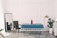 Клеенка декоративная на хлопковой основе с прозрачным ПВХ покрытием, рисунок Виноградная лоза, колорит 2