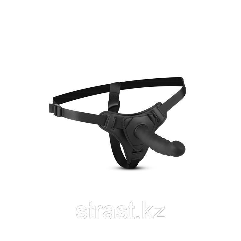 Easytoys Silicone bended strap-on - рельефный страпон, 14.5х2.9 см. (только доставка)