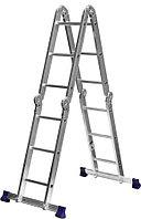 СИБИН ЛТ-43 лестница-трансформер, 4x3 ступени, алюминиевая (38851)