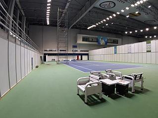Освещение теннисного корта спорт комплекс Даулет  2