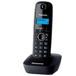 Радиотелефон PANASONIC KX-TG1611CAH, АОН на50звонков, тел.книга на 50номеров, 15ч в режиме разговора