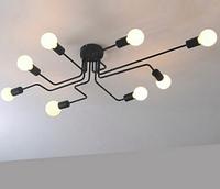 Люстра черная в стиле Loft на 8 ламп 7069-8BK