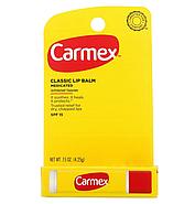 Carmex, классический бальзам для губ, лечебный с SPF 15, 4,25 г (0,15 унции), фото 2