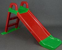 Горка детская Doloni красный/зеленый