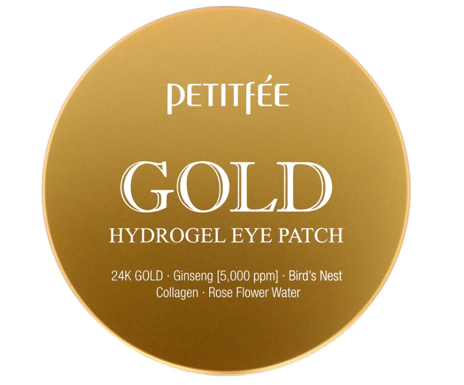 Petitfee, Гидрогелевые патчи для глаз, золото, 60 шт.