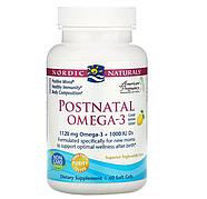 Nordic Naturals, омега-3 для приема после родов, лимон, 1120 мг, 60 капсул, фото 2