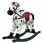Качалка-Лошадка мягконабивная PITUSO, Белый с черными пятнами, 74*30*64см