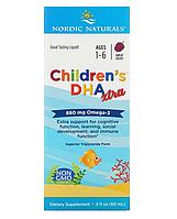 Nordic Naturals, Children's DHA Xtra, для детей возрастом 1 6 лет, ягодный вкус, 880 мг, 60 мл (2 жидк. унции)