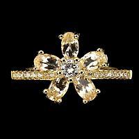 Серебряное кольцо с МОРГАНИТОМ (натуральный!!),серебро 925 пр. Размер 18