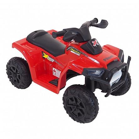 PITUSO Электроквадроцикл 6V/4.5Ah,20W*1,колеса пластик,свет,муз.,амортиз.,68*42*45 см,Красный/RED
