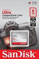 SanDisk Карта памяти Compact Flash CF 8GB Ultra 50MB/s