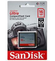 SanDisk Карта памяти Compact Flash CF 16GB Ultra 50MB/s